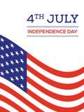 Quatrième de backgro des Etats-Unis d'Amérique de Jour de la Déclaration d'Indépendance de juillet Photo stock