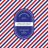 Quatrième de backgro des Etats-Unis d'Amérique de Jour de la Déclaration d'Indépendance de juillet Image stock