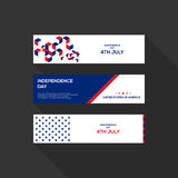Quatrième de bannière des Etats-Unis d'Amérique de Jour de la Déclaration d'Indépendance de juillet Photographie stock libre de droits