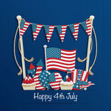 Quatrième de décoration de juillet Image stock
