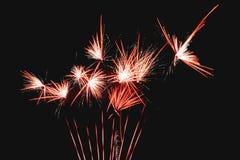 Quatrième de feux d'artifice de Jour de la Déclaration d'Indépendance de juillet Image stock