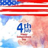 Quatrième de fond de juillet pour le Jour de la Déclaration d'Indépendance heureux de l'Amérique illustration stock