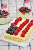 Quatrième de gâteau de juillet Photographie stock libre de droits