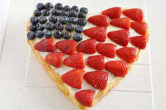 Quatrième de gâteau de juillet Image stock