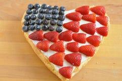 Quatrième de gâteau de juillet Photo libre de droits