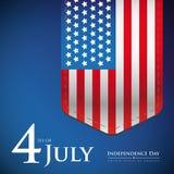 Quatrième de juillet - bannière ou affiche des Etats-Unis de Jour de la Déclaration d'Indépendance illustration de vecteur