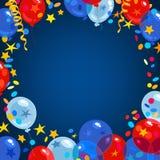 Quatrième de juillet, fond indiqué uni de Jour de la Déclaration d'Indépendance illustration libre de droits
