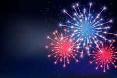 Quatrième de juillet, Jour de la Déclaration d'Indépendance des Etats-Unis Joyeux anniversaire Amérique Illustration de vecteur illustration stock