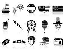 Quatrième des icônes de juillet réglées Photos libres de droits
