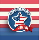 Quatrième des insignes américains de Jour de la Déclaration d'Indépendance de juillet Photo stock