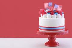 Quatrième heureux de gâteau de célébration de juillet Photographie stock