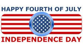 Quatrième heureux de Jour de la Déclaration d'Indépendance de juillet Images stock
