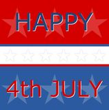 Quatrième heureux de Jour de la Déclaration d'Indépendance de juillet, nous drapeau Images stock