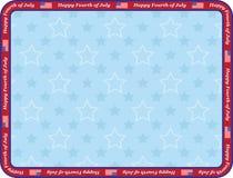 Quatrième heureux de juillet Image libre de droits