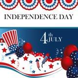 Quatrième juillet illustration libre de droits
