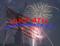 quatrième juillet heureux Photos libres de droits