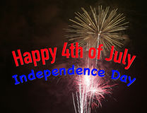 quatrième juillet heureux Photographie stock libre de droits