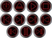 Quatrièmes boutons réglés pour le joueur de Web Photo libre de droits