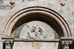 Quatrième gare, par l'intermédiaire de Dolorosa, Jérusalem Image stock