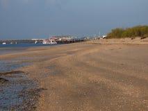 Quatro阿瓜海滩tavira 免版税库存照片