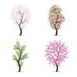 Quatro árvores Imagens de Stock Royalty Free