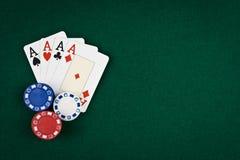 Quatro ás do póquer Fotos de Stock