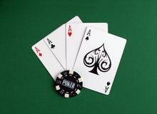 Quatro ás e apostas imagens de stock royalty free