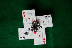 Quatro áss Imagens de Stock