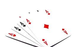 Quatro áss de giro do pôquer vídeos de arquivo
