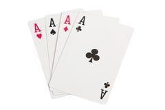 Quatro áss no branco Imagem de Stock