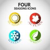Quatro ícones das estações Foto de Stock