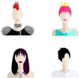 Quatro ícones das subculturas Imagens de Stock Royalty Free