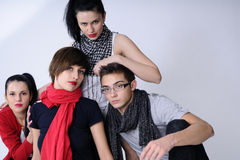 Quatro adolescentes fotografia de stock