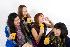 Quatro amigos felizes Imagens de Stock