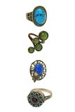 Quatro anéis bonitos do vintage fotos de stock royalty free