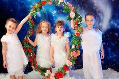 Quatro anjos Imagens de Stock