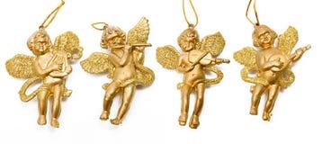 Quatro anjos dourados Foto de Stock Royalty Free