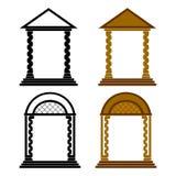 Quatro arcos. Fotografia de Stock