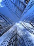 Quatro arranha-céus ilustração stock