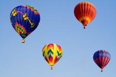 Quatro balões Fotos de Stock Royalty Free