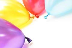 Quatro balões coloridos Fotos de Stock
