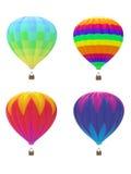 Quatro balões de ar quente Foto de Stock Royalty Free