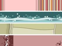 Quatro bandeiras abstratas do Web ilustração stock