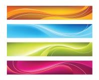 Quatro bandeiras coloridas do vetor Fotografia de Stock