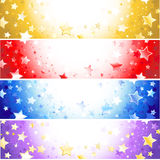 Quatro bandeiras com estrelas sparkling ilustração royalty free