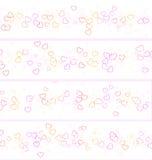Quatro bandeiras dos corações Imagem de Stock