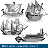 Quatro barcos 2 Fotos de Stock