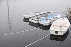 Quatro barcos de fileira em Rockport Maine Foto de Stock Royalty Free