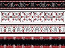 Quatro beiras do Valentim com guarnições do guingão Imagens de Stock
