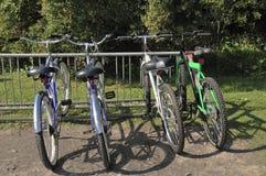 Quatro bicicletas Foto de Stock Royalty Free